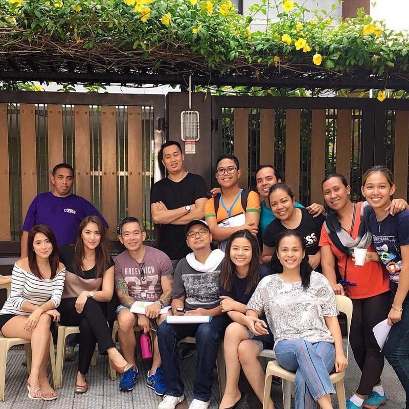 #IMKasambahay: Miles, Nikki, Antoinette at Ara on the set of Ipaglaban Mo